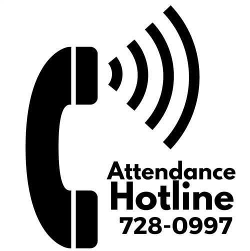 Attendance Hotline Phone 728-0997