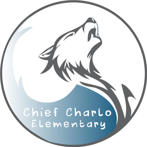 Wolf Howling Logo for Chief Charlo Elementary School