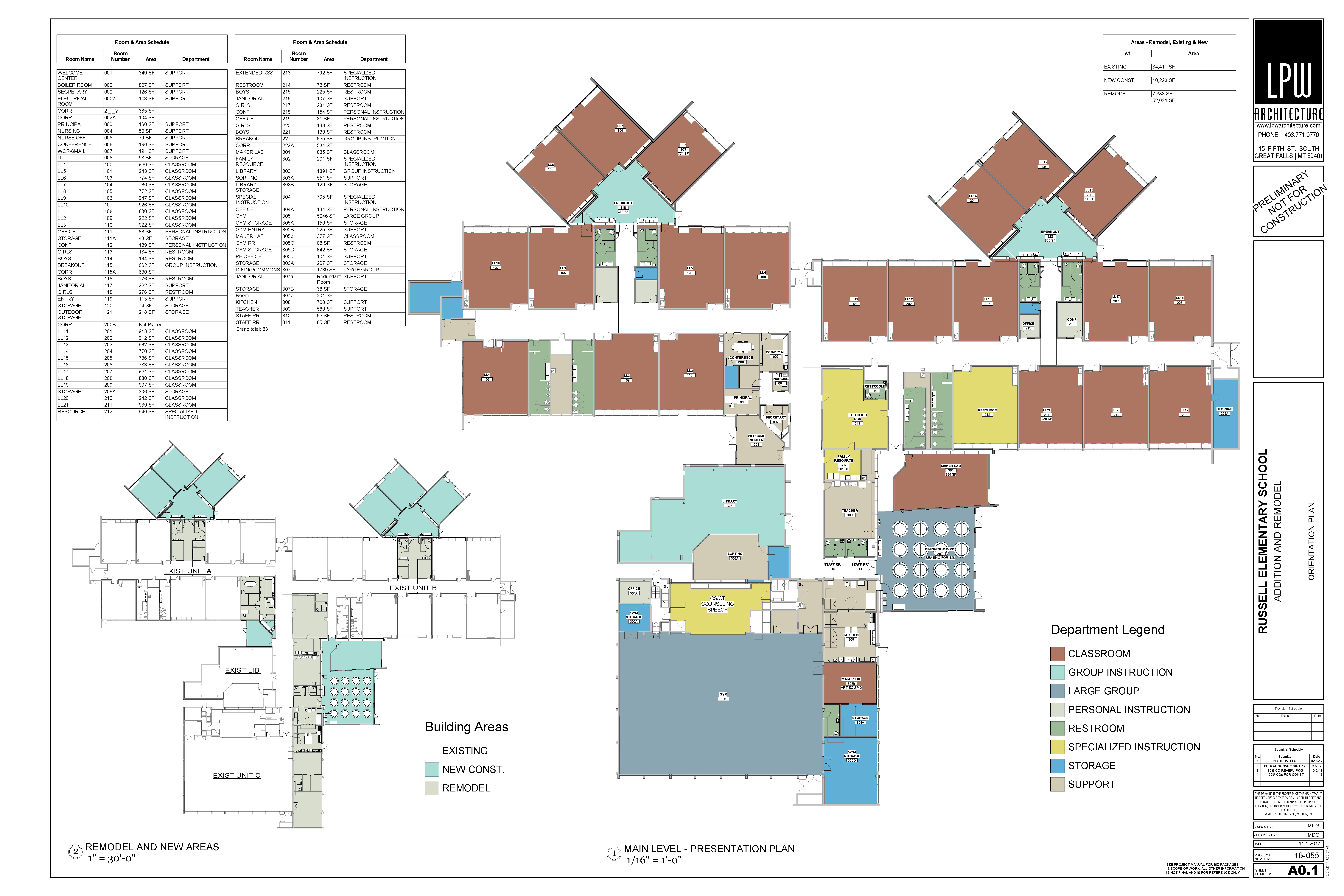 Rendering of Russell Elementary Detailed Floor Plan