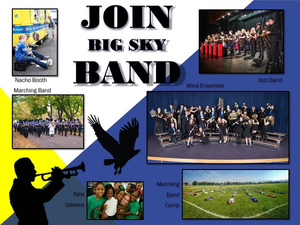Join Big Sky Band Poster