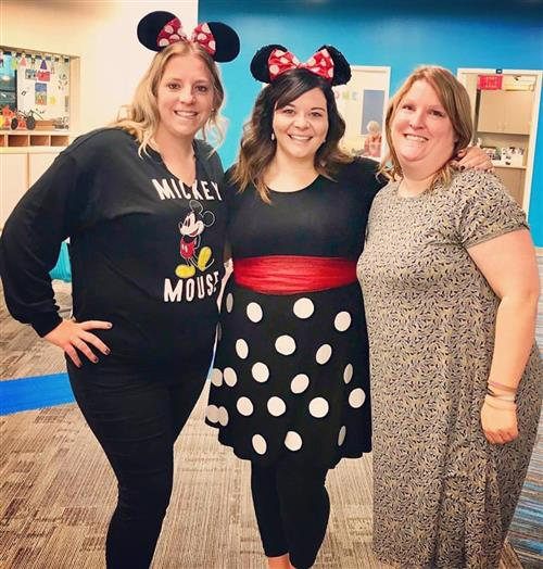 Mrs. Baied, me, and Mrs. Owens on Disney day!