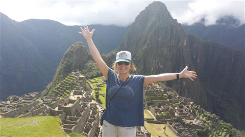Profe Anderson at Machu Picchu in Peru