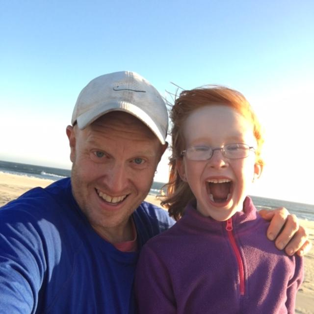 Mr. Eells and daughter on vacation in Oregon.