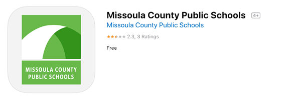 Screen Shot of the MCPS app located in the Google Play Store