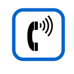Icon with Phone Ringing
