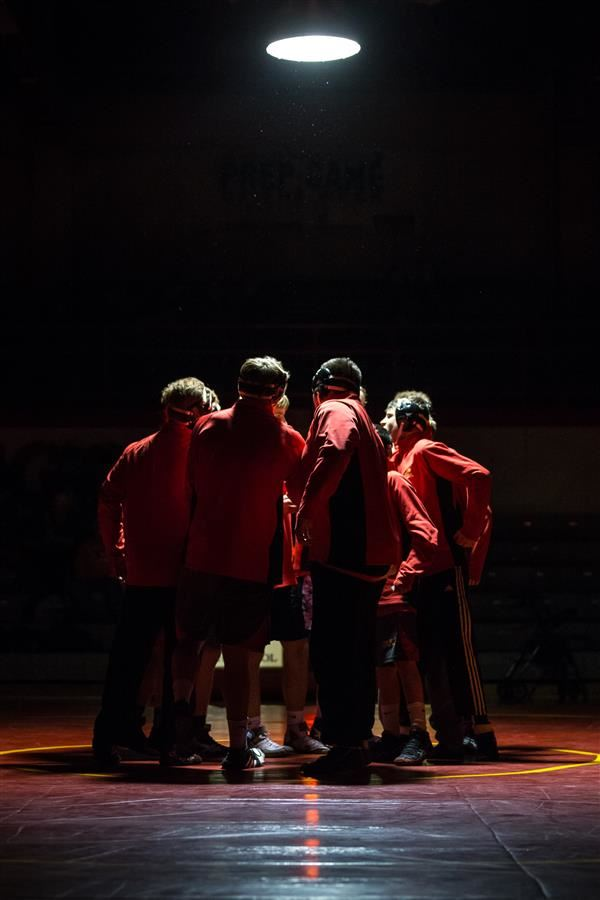 Wrestling Huddle